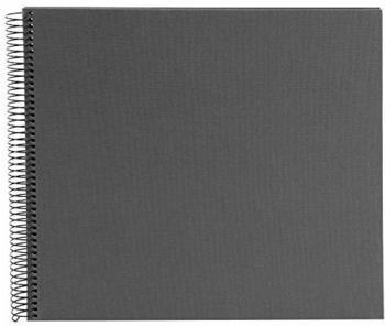 Goldbuch Spiralalbum Bella Vista 34x30/40 grau (schwarze Seiten)