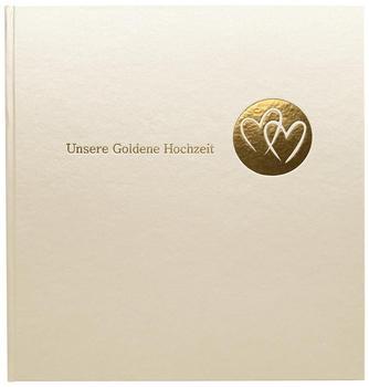 Goldbuch Goldhochzeitsalbum Herzklopfen 30x31/60
