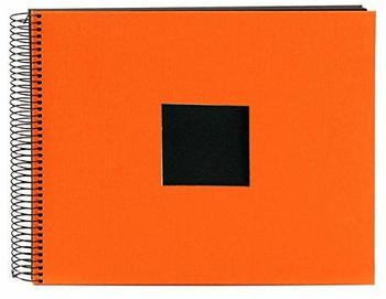 Goldbuch Spiralalbum Bella Vista mit Bildausschnitt 34x30/40 orange