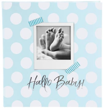 Goldbuch Babyalbum Hallo Baby 30x31/60 blau
