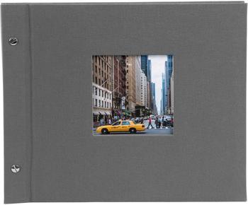 Goldbuch Schraubalbum Bella Vista 30x25/40 grau (weiße Seiten)