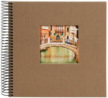 Goldbuch Spiralalbum Bella Vista 20x20/40 coffee bronze