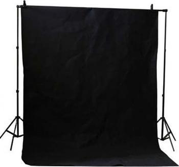 Bresser BR-D26 Hintergrundsupport + Hintergrundtuch weiß 3x6m schwarz