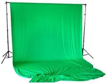 Bresser BR-D26 Hintergrundsupport + Hintergrundtuch weiß 3x6m chromakey-grün