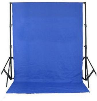 Bresser BR-D26 Hintergrundsupport + Hintergrundtuch weiß 3x6m chromakey-blau