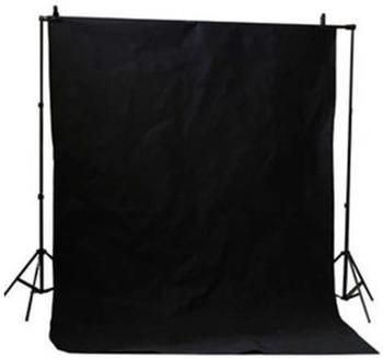Bresser BR-D24 Hintergrundsystem + Hintergrundtuch 2,5x3m schwarz