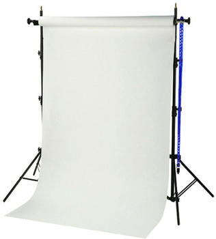 Bresser D-46 Hintergrundsystem + Papierrolle 1,35x11m weiß