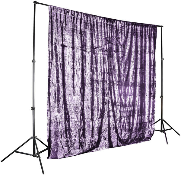 Walimex pro Paillettenhintergrund 2,6x2,4m rosa