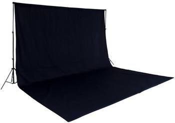 TecTake Fotohintergrund Komplettset schwarz