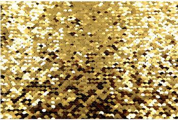 Quenox Paillettenhintergrund 2,6 x 3 m gold/schwarz
