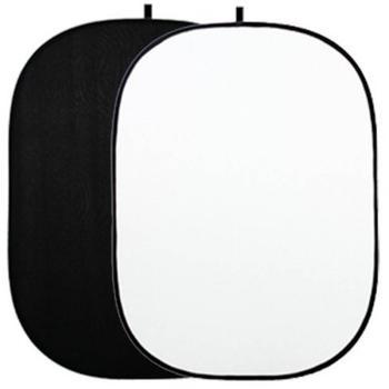 Quenox Falthintergrund 150 x 200 cm 2-in-1 schwarz-weiß