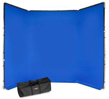 Manfrotto Hintergrund-Kit Manfrotto Chroma Key FX 4 x 2,9 m blau