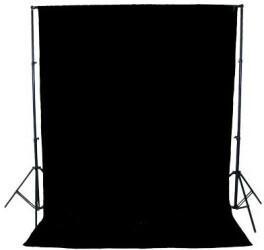 Starblitz Stoffhintergrund 3x3m schwarz