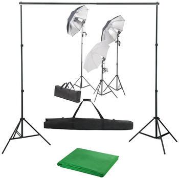 vidaXL Fotostudio-Set mit Lampen-Set und Hintergrund (3055117)