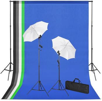 vidaXL Fotostudio-Set mit Hintergründen, Leuchten und Schirmen (3051357)