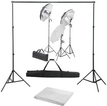 vidaXL Fotostudio-Set mit Lampen-Set und Hintergrund (3055125)