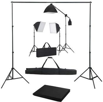 vidaXL Fotostudio-Set mit Softbox-Leuchten und Hintergrund (3055076)