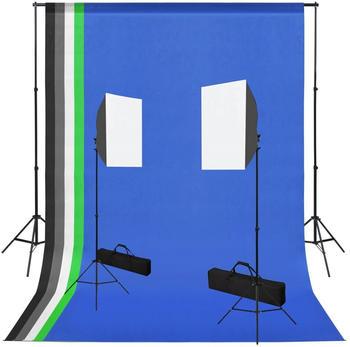 vidaXL Fotostudio-Set mit Softbox-Leuchten und Hintergründen (3051363)