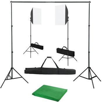 vidaXL Fotostudio-Set mit Softbox-Leuchten und Hintergrund (3055060)