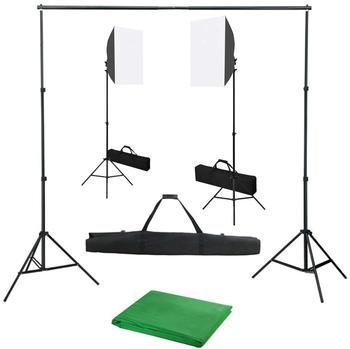 vidaXL Fotostudio-Set mit Softbox-Leuchten und Hintergrund (3055057)