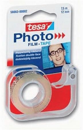 Tesa Fotofilm doppelseitiges Klebeband mit Abroller 7,5m/12mm