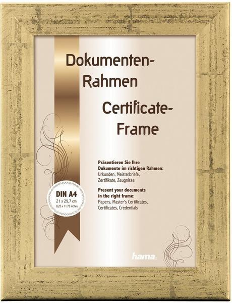 Hama Holzrahmen Riga 21x29,7 gold