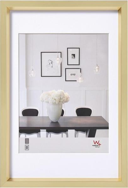 walther design Kunststoffrahmen Steel Style 30x40 gold