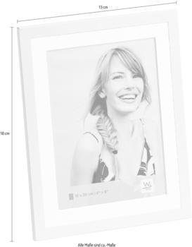 walther design Alu-Portraitrahmen Classico 13x18 weiß