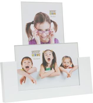 Deknudt Fotohalter für 2x 10x15 weiß