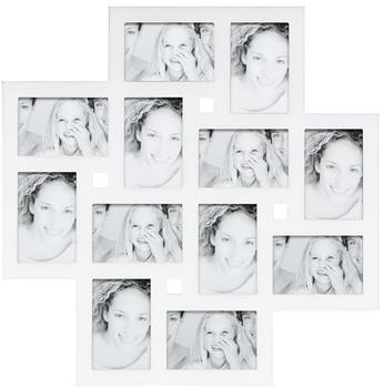 Deknudt Bilderwandrahmen für 12 Fotos weiß
