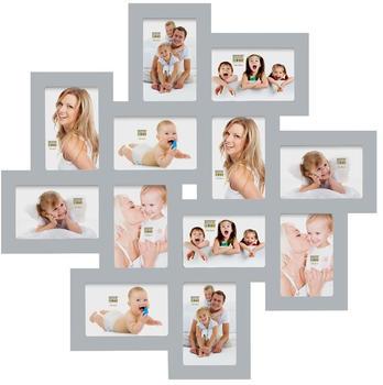 Deknudt Bilderwandrahmen für 12 Fotos grau
