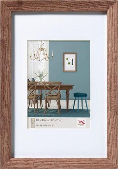 walther design Holzrahmen Fiorito 40x60 nussbaum
