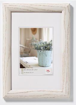 walther design Holzrahmen Interieur 50x70 weiß gemasert