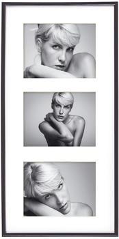 walther design Kunststoffrahmen Galeria 3 x 13x18 schwarz