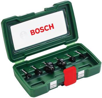 Bosch HM-Fräserset 6 mm-Schaft, 6-tlg. (2607019464)