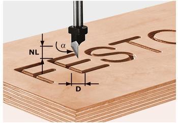 Festool Schriftenfräser HS Schaft 8 mm HS S8 D11/60°