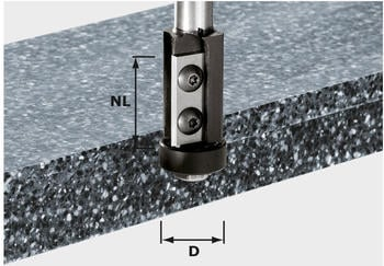 Festool Bündigfräser-Wendeplatten HW S12 D21/30WM - 491120