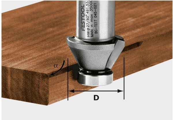 Festool Fasefräser HW 45°-OFK 500 - 490090