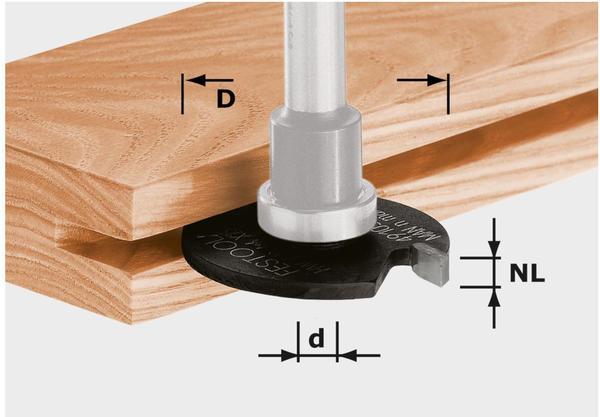 Festool Scheibennutfräser HW D40x4 - 491059