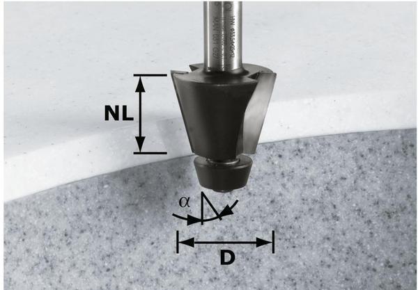 Festool Fasefräser HW D33,54/15° ss S12 - 492665