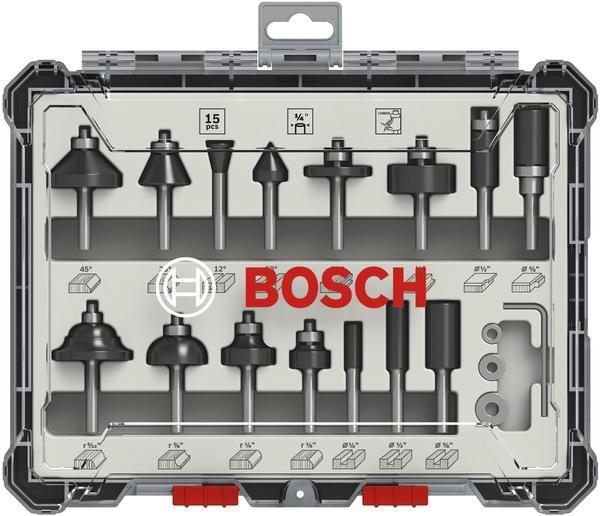 Bosch Fräser-Satz 15-teilig (2607017473)