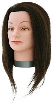 Hairforce Übungskopf Asia Echthaar Braun (40 cm)