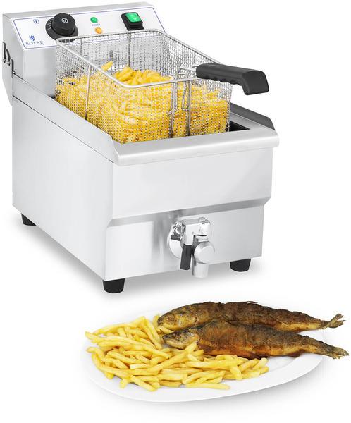Royal Catering Elektro-Fritteuse - 10 Liter mit Ablasshahn