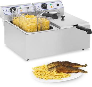 Royal Catering Elektro-Fritteuse - 2 x 17 Liter - geeignet für Fisch