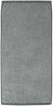 Marc O'Polo Timeless Tone Stripe 70x140cm anthrazit/silber
