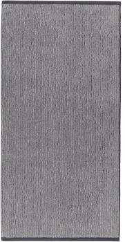 Marc O'Polo Timeless Tone Stripe 70x140cm marine/hellsilber