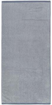 Marc O'Polo Timeless Tone Stripe 70x140cm rauchblau/off-white