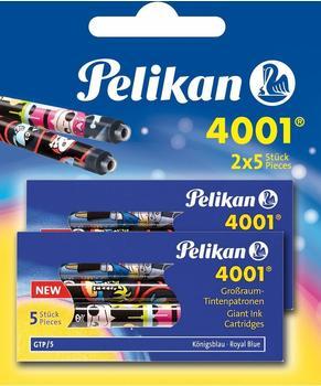 Pelikan Bunt bedruckte Großraum-Tintenpatronen 4001 2 Etuis Königsblau (338277)