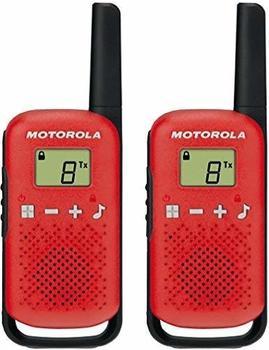 Motorola Talkabout T42 PMR-Funkgeräte (2er Set, PMR446, 16 Kanäle, Reichweite 4 km) Rot