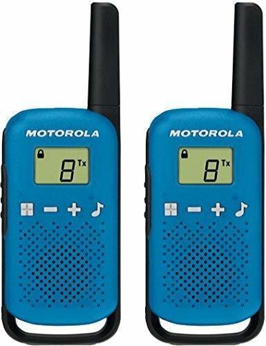 Motorola Talkabout T42 PMR-Funkgeräte (2er Set, PMR446, 16 Kanäle, Reichweite 4 km) Blau